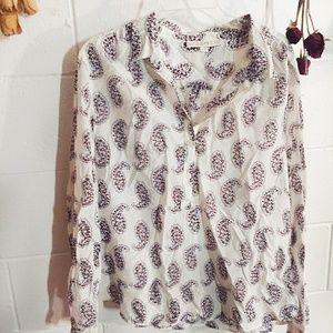 Paisley Silk Blend Loft Blouse